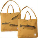 """South2 West8 (サウスツーウエストエイト)""""Grocery Bag - Gyotaku Print"""""""