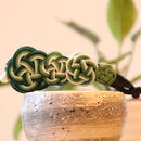 お正月【水引バナナクリップ】左右で違う色彩が楽しめるヘアアクサセリー(グリーン)受注生産