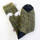 RIPNDIP / SAFARI NERM Socks OLIVE リップンディップ 靴下 ソックス