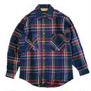 J.C. PENNEY BIG MAC  HEAVY FLANNEL L/S SHIRTS 90s DEAD STOCK BLUE