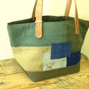 #058 vintage military patchwork totebag Small size
