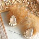 brown  mink fur  pierce