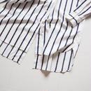 "UNUSED ""US1486 Stripe Shirt. "" White×Navy women"