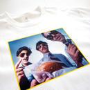 "GIRL ""GIRL × BEASTIE BOYS ""SABOTAGE"" Tee"" Photographed by Spike Jonze"