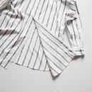 "UNUSED ""US1486 Stripe Shirt. "" White×Gray women"
