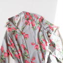 "Graphpaper ""Flower Printed Shirt Dress / The floral print designed by *ENAMEL"" Gray"