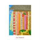 ヒロクメアート 四つ切マット付 色鮮やかなレイスタンドが描かれたハワイアンアート『Lei Stand』。HK015B