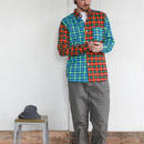 【SALE】 dip クレイジー柄チェックシャツ