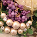 cotton pearl & QZ necklace