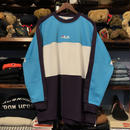 【残り僅か】FILA line crewneck jersey (Turquois)