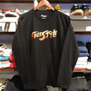 "【ラス1】RUGGED ""FREE STYLE"" L/S tee (Black×Red)"