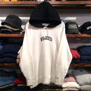 """RUGGED """" SMALL ARCH """" light hoody(White)"""