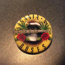 "RUGGED ''GANJA & ROSES"" button badge"