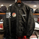 "RUGGED ""欲"" stadium jacket(Black)"