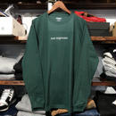 "RUGGED ""not supreme"" L/S tee(Ivy Green)"