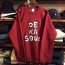 【残り僅か】DKMR ''DE KA SOUL'' sweat(Burgundy)