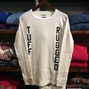 """【ラス1】RUGGED """"TUFF RUGGED"""" thermal L/S tee (White)"""