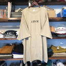 "【残り僅か】RUGGED ""LOVE"" Big tee (Sand Beige)"