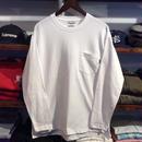 【ラス1】RUGGED pocket L/S tee(White)