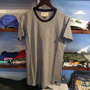 【残り僅か】DENIM & SUPPLY pencil striped cotton tee(White/Navy)