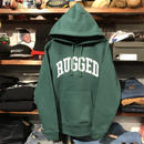 "【ラス1】RUGGED ""ARCH LOGO"" sweat hoodie (Ivy Green/10.0oz)"