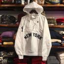 """【残り僅か】Majestic """"NEW YORK"""" anorak nylon hoody(White)"""