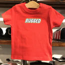 "RUGGED ""RUGD"" Baby tee (70-90/Red)"