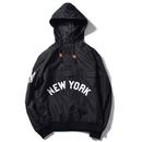 """【残り僅か】Majestic """"NEW YORK"""" anorak nylon hoody(Black)"""