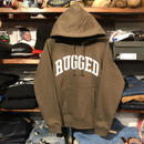 "【ラス1】RUGGED ""ARCH LOGO"" sweat hoodie (Olive/10.0oz)"