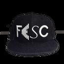 """【ラス1】FESC """"LOGO"""" Denim Snapback(Black Denim)"""