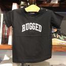"""【残り僅か】RUGGED """"ARCH LOGO"""" kids tee (Black)"""