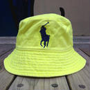 "POLO RALPH LAUREN ""BIG PONY"" bucket hat (neon yellow)"