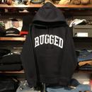 "RUGGED ""ARCH LOGO"" sweat hoodie (Navy/10.0oz)"