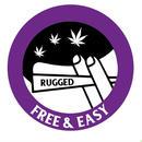 "RUGGED  ""FREE&EASY"" sticker"