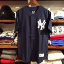 """【残り僅か】Majestic """"Yankees"""" Cotton Baseball shirts(Navy)"""