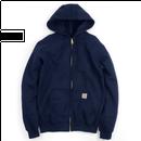 【残り僅か】Carhartt full-zip hoodie(Navy)