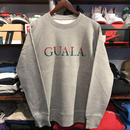 "【ラス1】GUALA ""Two‐tone Logo"" heavy-weight sweat (12.7oz./Gray)"