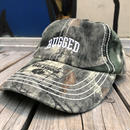 "RUGGED on Vintage ""Arch logo"" real tree adjuster cap"