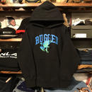"【ラス1】RUGGED ""蛙"" sweat  hoodie (Black/12.0oz)"