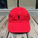"""【ラス1】POLO RALPH LAUREN """"small pony '' logo adjuster cap (Red×Black)"""