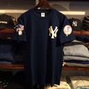 "Majestic "" NEWYORK YANKKES logo"" tee (Navy)"