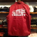 "【ラス1】RUGGED ""CHILLIN'Z"" coach jacket (Burgundy)"