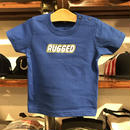 "【残り僅か】RUGGED ""RUGD"" Baby tee (70-90/Blue)"