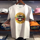 【残り僅か】RUGGED green label ''GANJA & ROSES'' tee  (White)