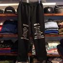 "RUGGED ""SAT/IND"" urbanfit sweat pants(Black)"