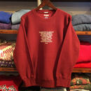 "【ラス1】RUGGED ""Mister"" sweat (12.0 oz/Burgundy)"