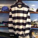 DENIM & SUPPLY striped cotton L/S tee(White/Navy)