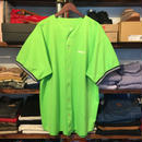 "【ラス1】RUGGED on deadstock ""ARCH LOGO"" baseball shirt (Light green)"