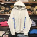 """【残り僅か】RUGGED """"rugged®︎"""" sleeve logo sweat hoodie (White)"""