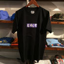 "【残り僅か】FESC ""BOX LOGO"" tee(Black×Purple/RUGGED別注)"